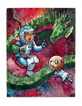 20200413 Astronaut, Dog and Dragon