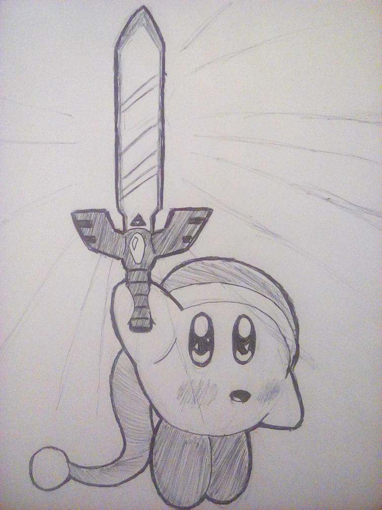 Kirby and the Master Sword by PKstarship