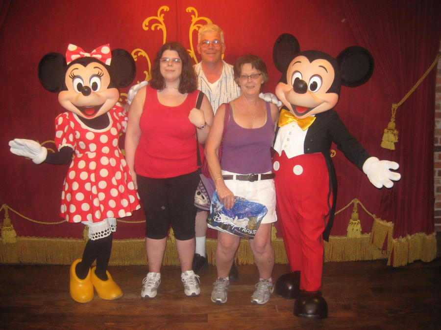 Mickey and Minnie in Disney World