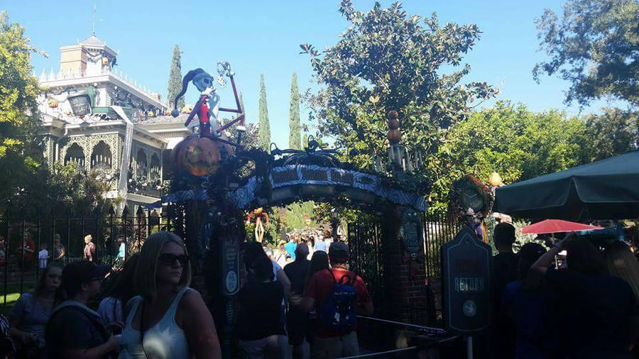 The entrance to the haunted mansion holiday  by PrincessCarol