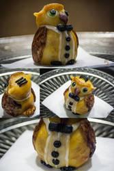 Edible art: Owl butler by MinayasStudio