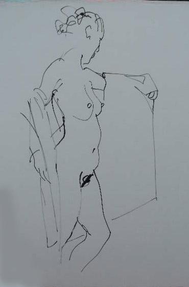 dessin d une seule caresse by rikvandervorst