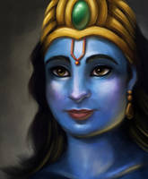Portrait of Vishnu by SofieGraham
