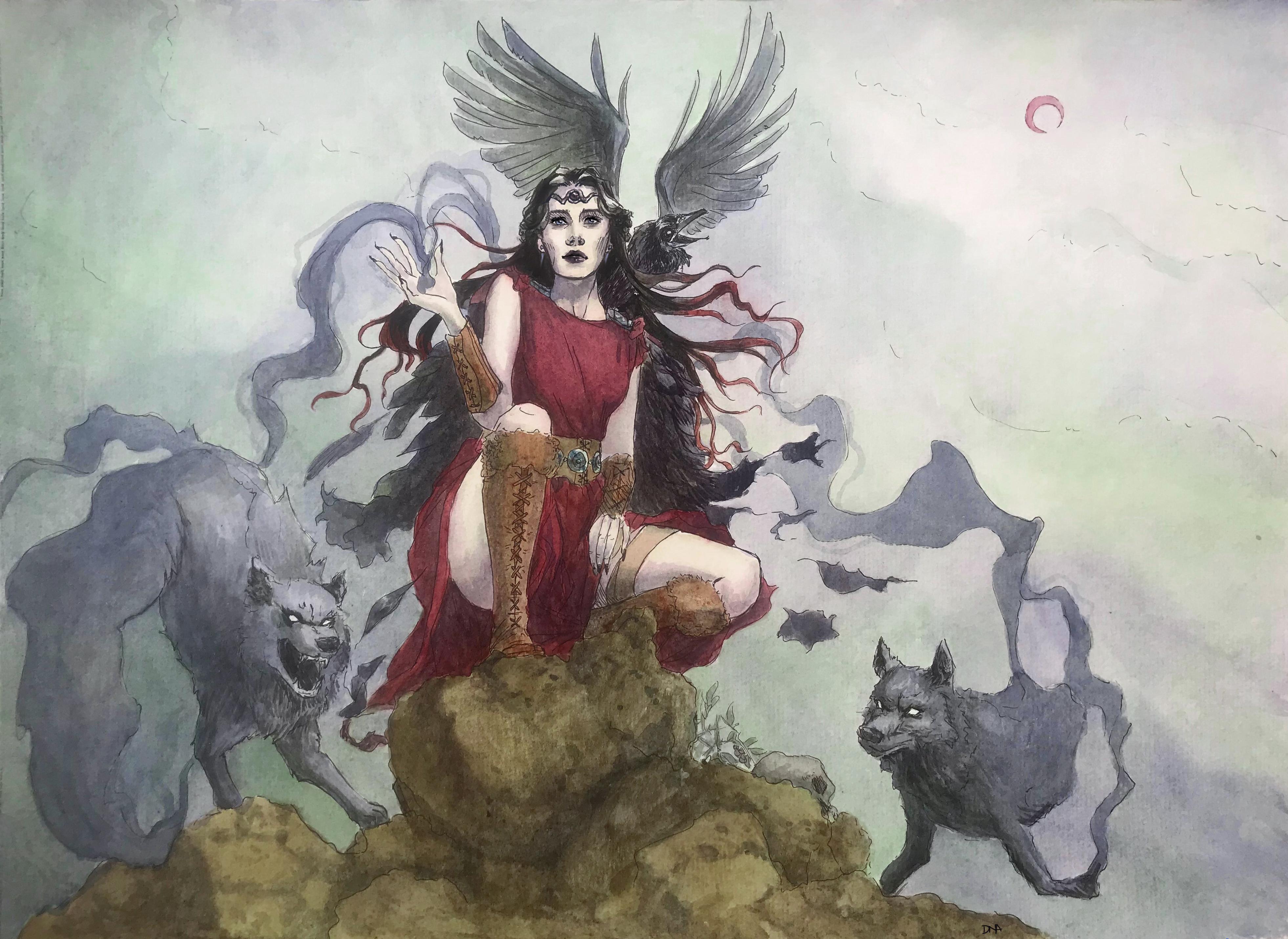 The Morrigan - Celtic Goddess