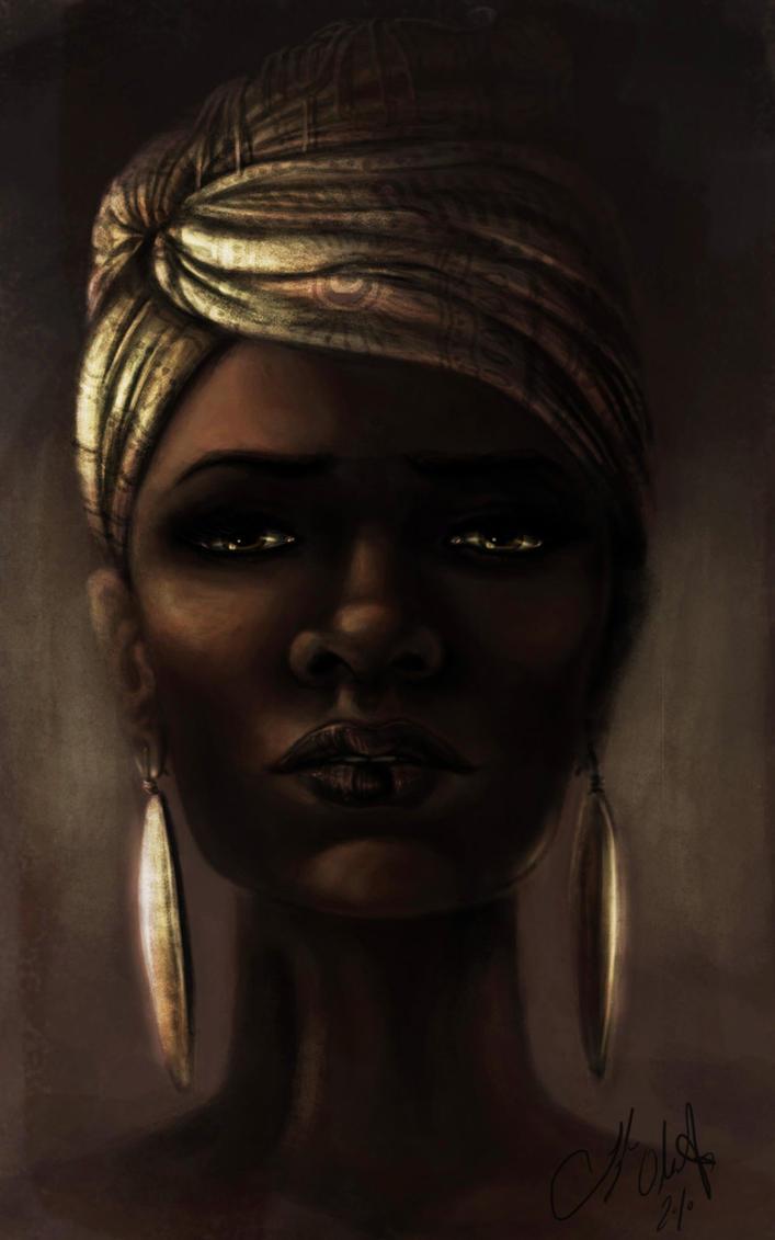 Beautiful Black Woman by Tyleen