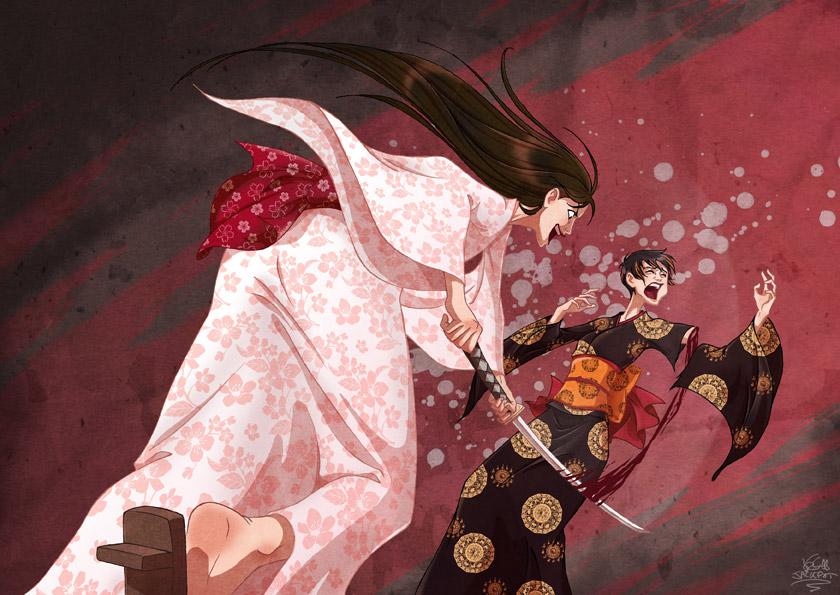 Kazusa et Shizuyo +commission+ by JackPot-84