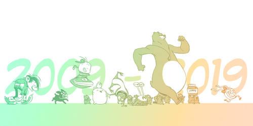 10 years in cartoons