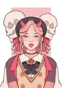 Demon girl (mnt_kaedi DTIYS entry)
