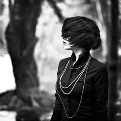 lady dark by EbruSidarPortrait