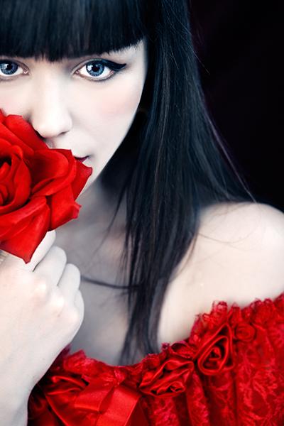 First rose by EbruSidarPortrait