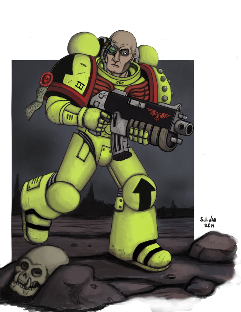 Another Space Marine. by squinkyproductions