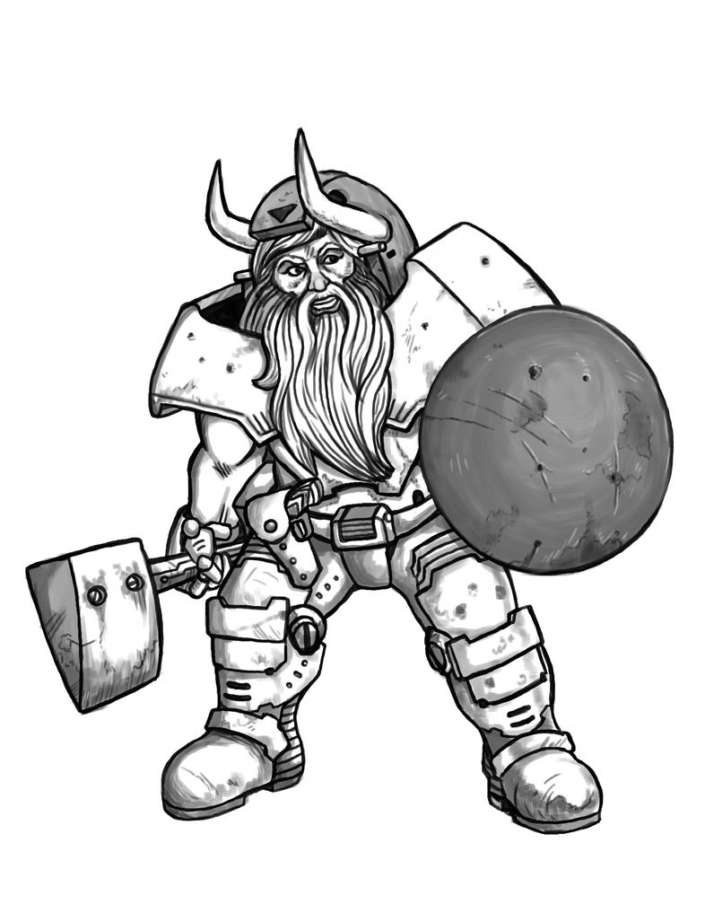 Space Dwarf by squinkyproductions