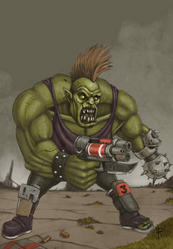 Ork macehand guy