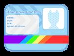 Rainbow Factory Card Base