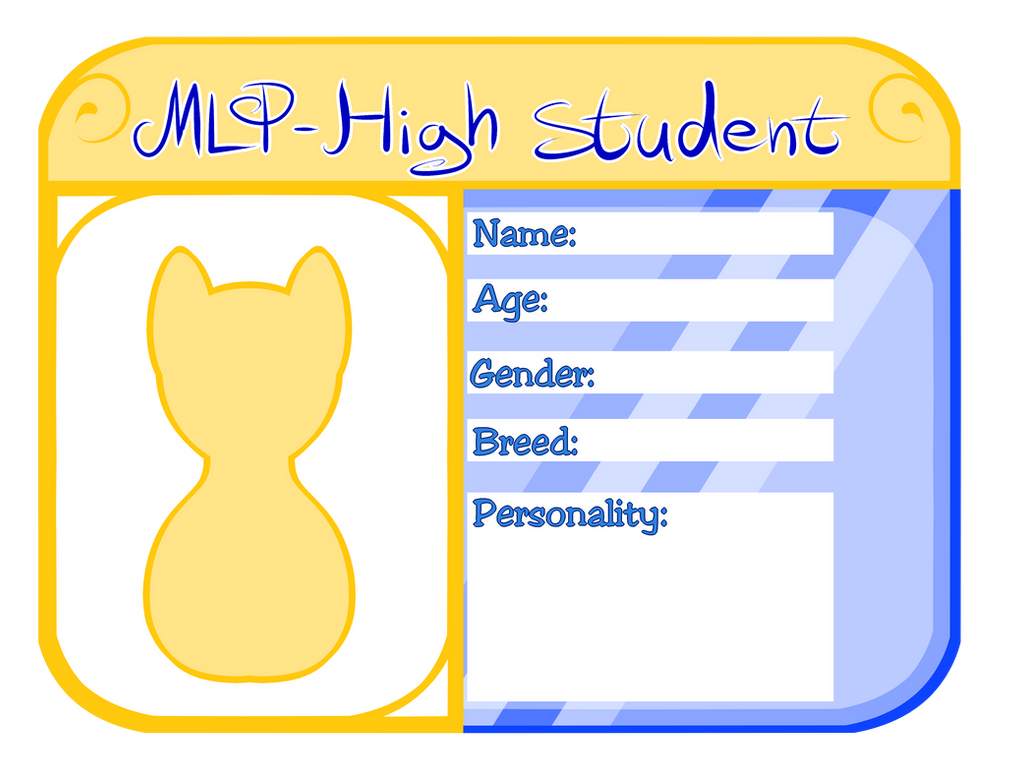 MLP High ID card base by Rebecca-doodles