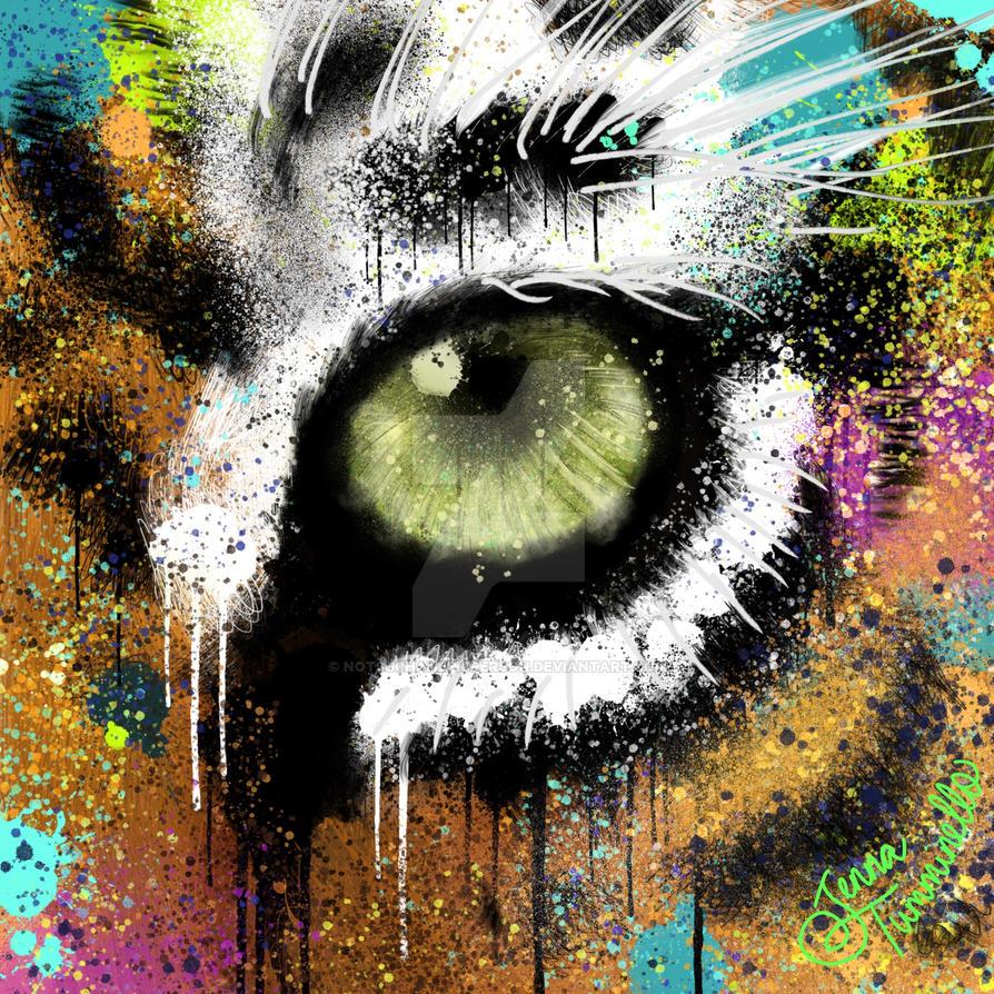 Splatter tiger eye by notsuchanepicperson