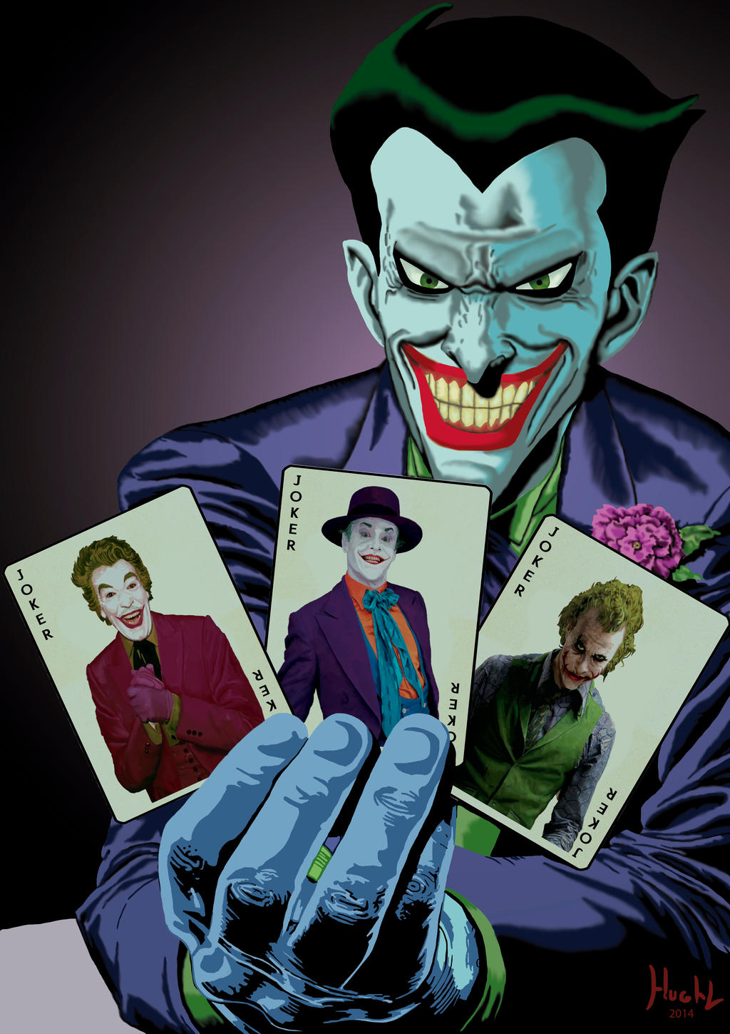 Joker Batman the animated series with cards by Shinnh on DeviantArt