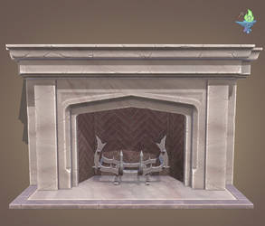 Neo Gothic Fireplace