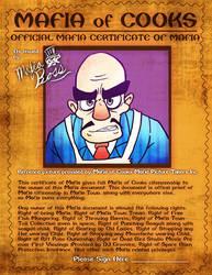 Mafia Certificate of Mafia by Derede