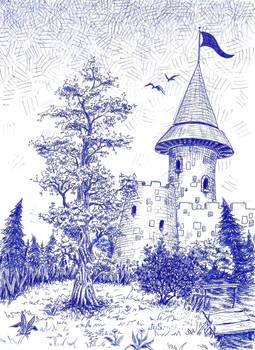 ballpoint pen castle.