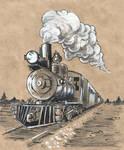 Inktober52. W.18. Train