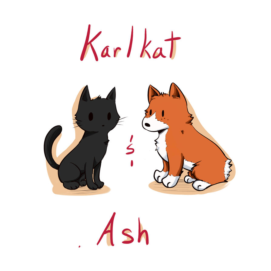 Karlkat and Ash by Delpha