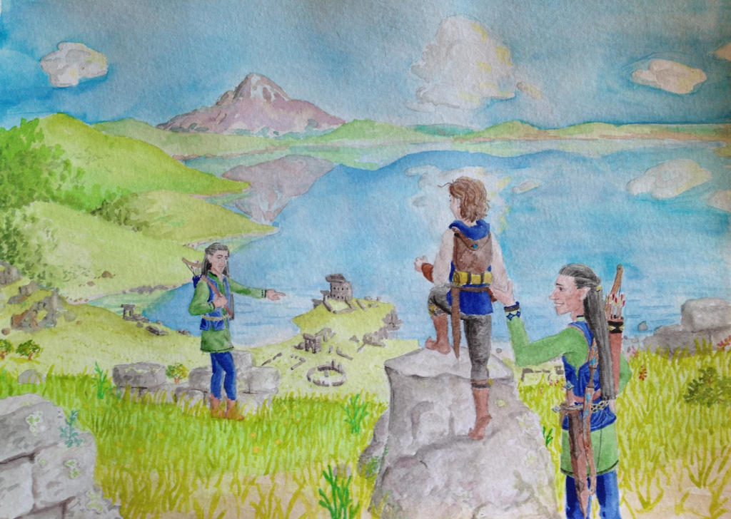 Ruins of Annuminas: a valley to be exalted