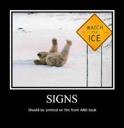 Funny polar bear poster by Luckypanic
