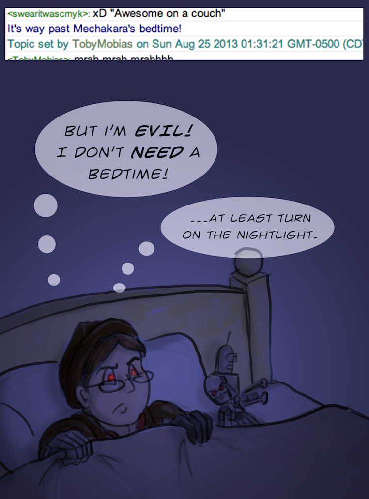 It's past your bedtime, young robot man! by BeckHop