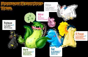 Pokemon Team - HeartGold by BeckHop