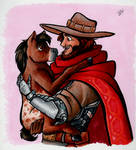 McCree with a Miniature Horse