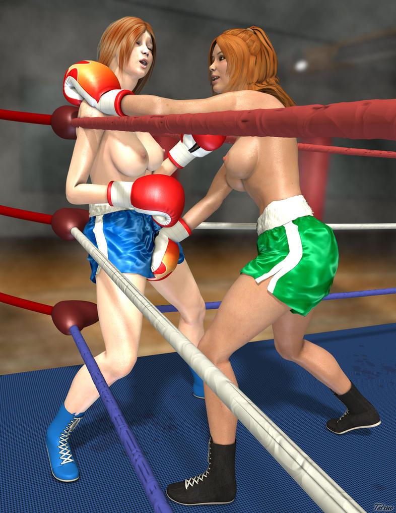 Boxing catfight rocky story
