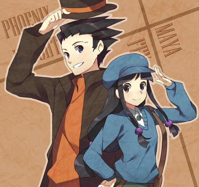 Ouverture ! - Page 2 Phoenix_wright_and_maya_by_1_kilometer-d316bqy