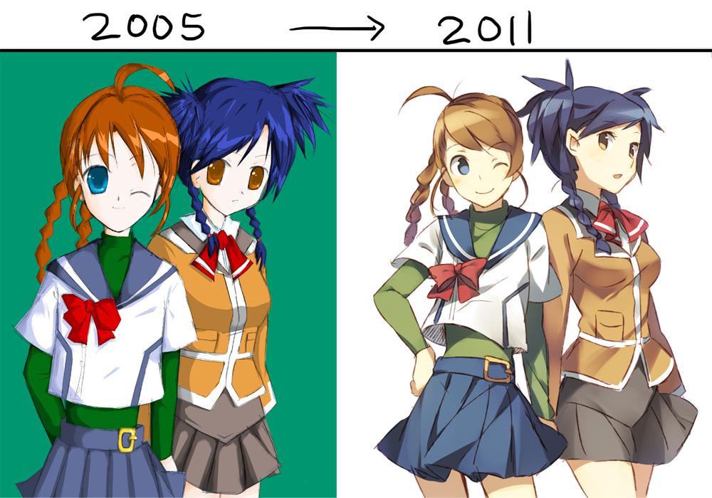 2005 vs 2011 by raemz-desu