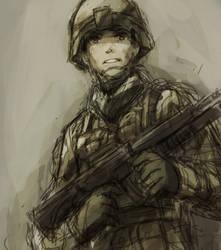 soldier by raemz-desu