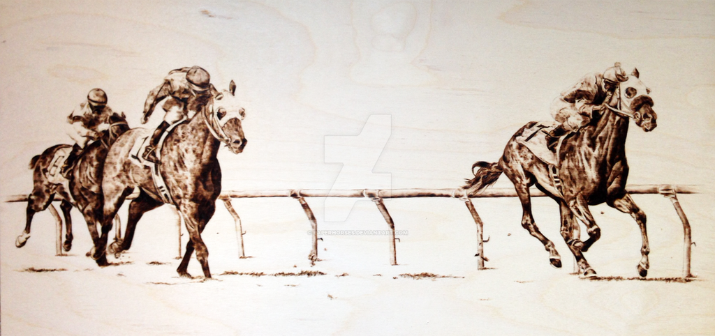 Down the Stretch by paperhorses