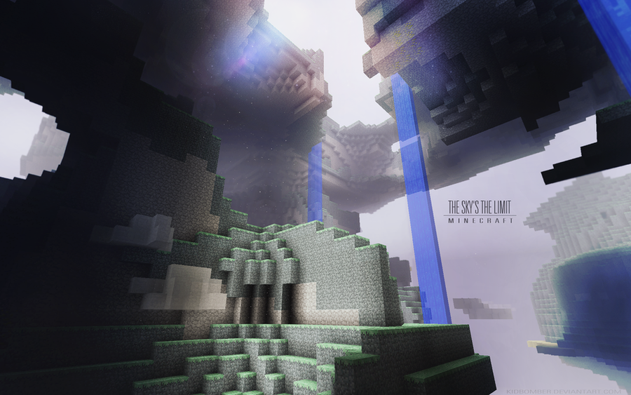 Great Minecraft Photography & Deisgn! Minecraft__the_sky__s_the_limit_by_kidbomber-d41sjhk