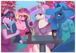 Princesses take a coffee by Xjenn9