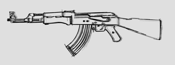 Ak-47 Sketch for Character