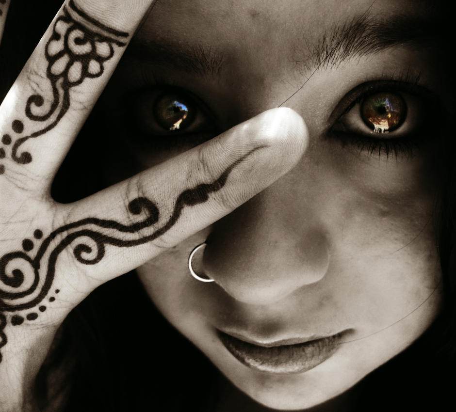 Henna Eye Tattoo: Henna Tattoo. And My Eye. By Skysofdreams On DeviantArt
