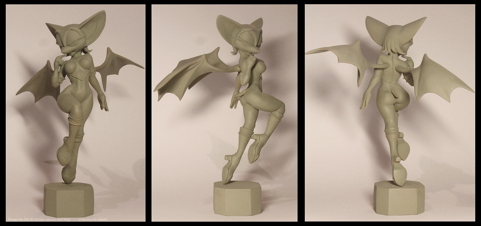 Rouge the bat sculpture 2 by mantti