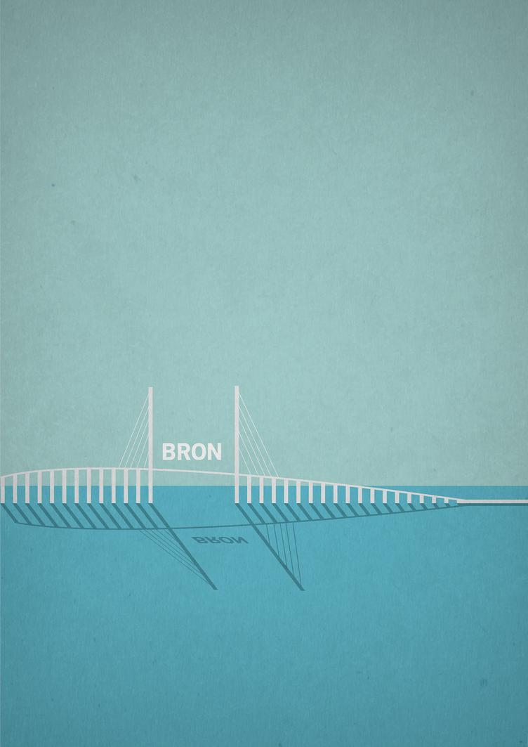 Bron (The Bridge) - Minimalist Poster by Caparzofpc