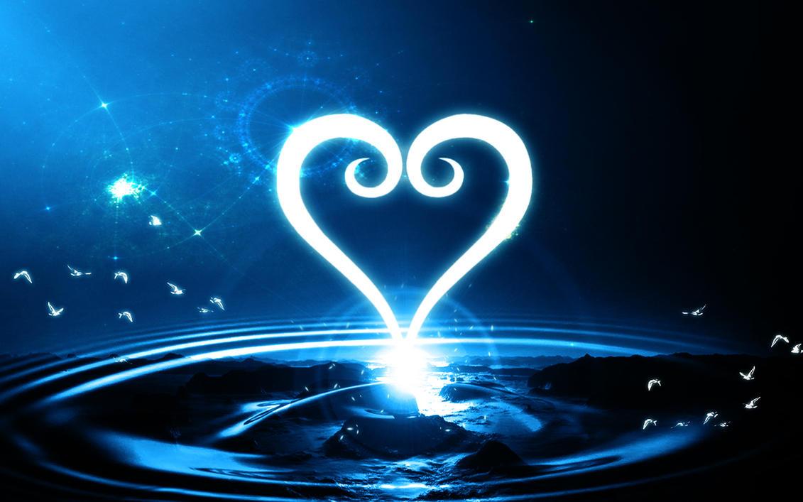 Kingdom Hearts Heart Logo Abstract Wallpaper by Zaxiade on ...