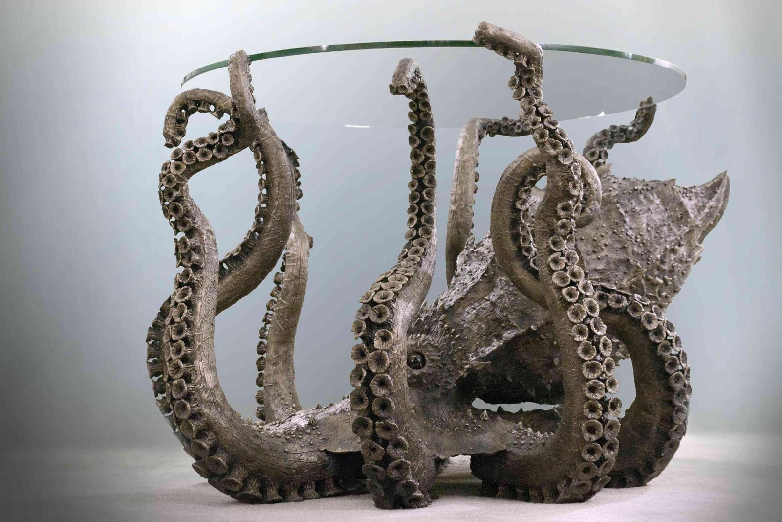 Bronze Octopus Side