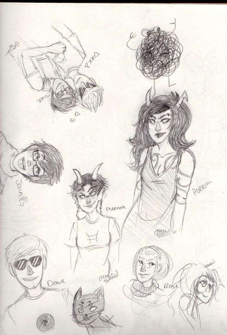 Homestuck Sketches by OsoDeClare