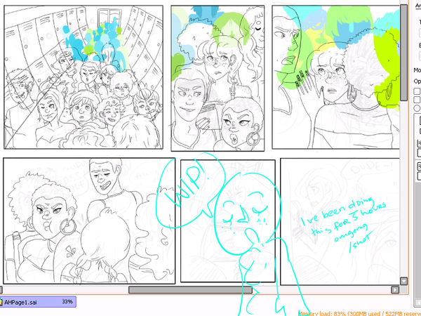 AH: Page 1 WIP by OsoDeClare