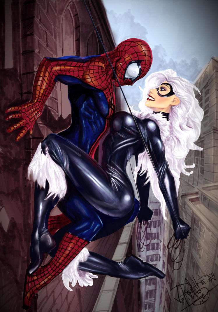 SpidermanBlackCat by Nebezial by GeneralSoundwave