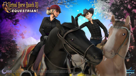 Virtual Horse Ranch 3D - Equestrian! - Title Page