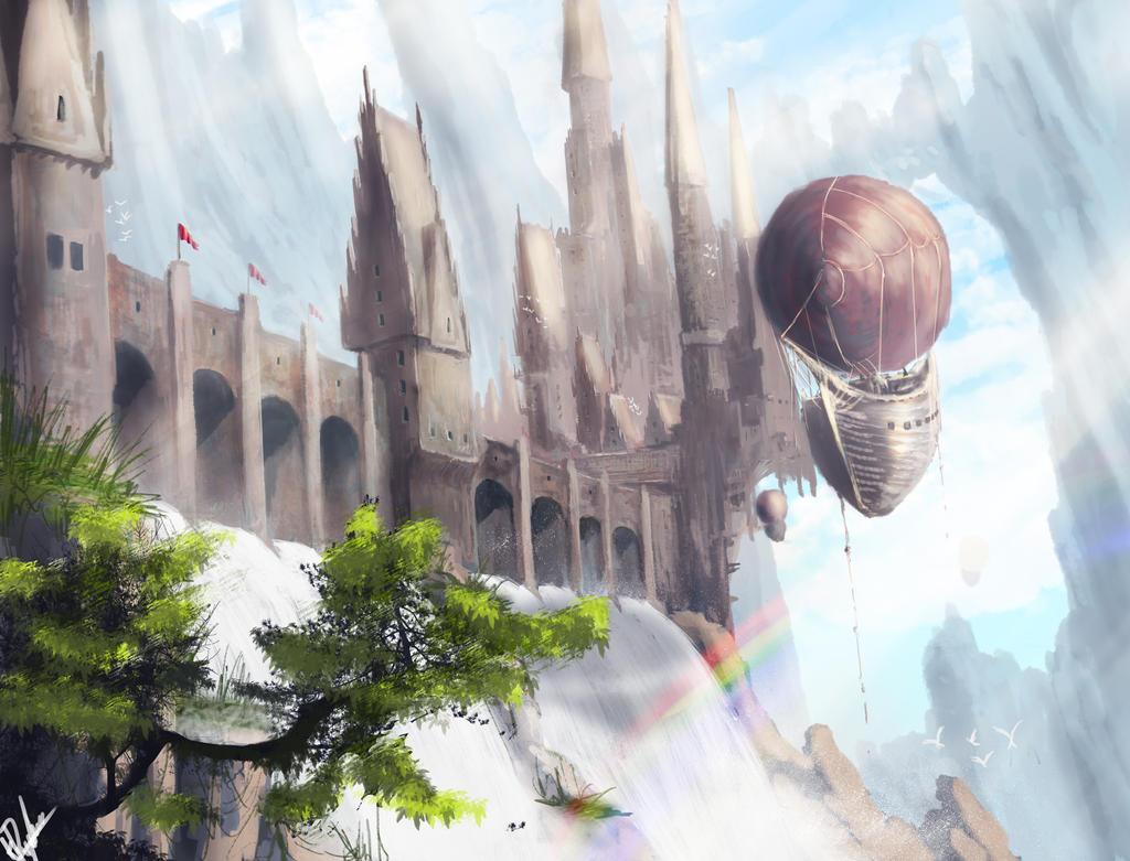 Fantasy Town by KamilRynkiewicz