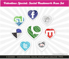 Heart Social Media Icons by moneyzeal